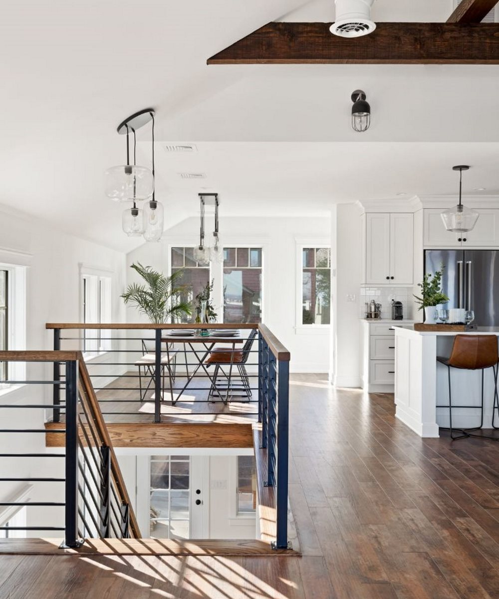 Long Island Open Concept Living Room