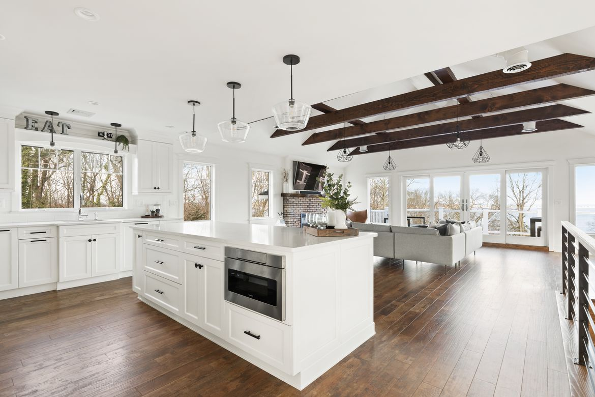 Huntington Long Island Open Concept Kitchen And Living