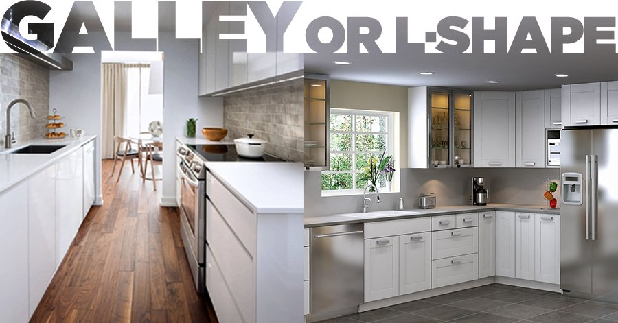Galley or L-Shaped Kitchen