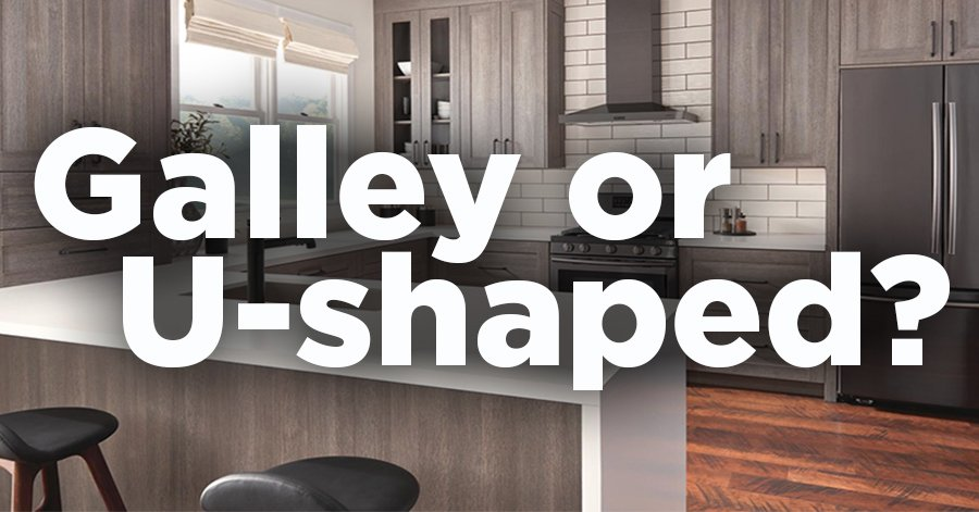 Galley or U-Shaped Kitchen