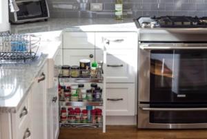 Pull-Out Storage Cabinets - NDA Kitchens, Long island